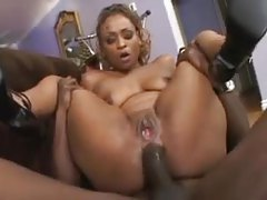 Ebony babe with killer curves gets ass fucked tubes