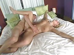 Blonde babe with gorgeous ass and pierced pussy getting pumped tubes