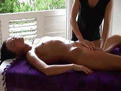 Erotic massage with sexy fingering tubes