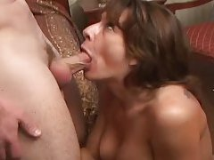Milf cocksucker gobbles knob in the bedroom tubes