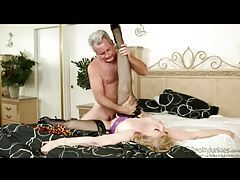 Lustful blonde mature enjoys fucking older gentleman tubes