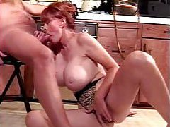 Redhead mature with incredible tits sucks her lovers cock tubes