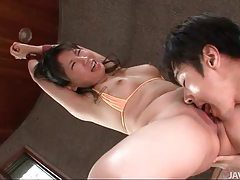 Hands bound on this pretty Japanese girl tubes