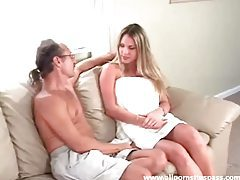 Pretty blonde with curvaceous round ass spanked red raw tubes