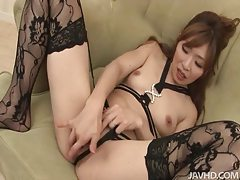 In lovely lingerie the little chick masturbates tubes