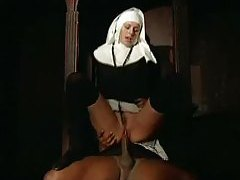 Nun nailed in the ass by black priest tubes