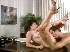 Sensual sex in retro office sex tubes