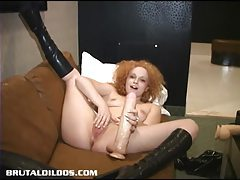 Julia moans from brutal dildo insertion tubes