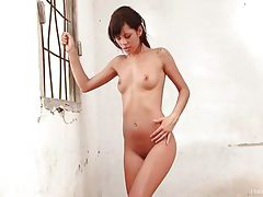 Nubile brunette beauty shows off her delicious body tubes