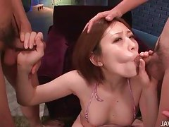 Naughty Asian slut knows how to pleasure a dick tubes