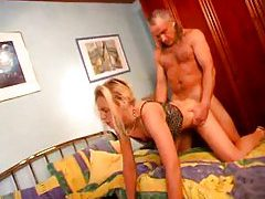 Old guy trains her to be an anal slut tubes