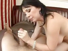 Gorgeous mature with luscious large tits gets ravaged tubes
