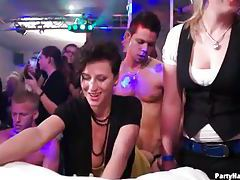 Wild party sluts get fucked and dance tubes