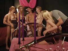 Orgy party with lusty licking and fucking tubes