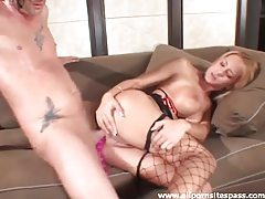 Beads and cocks up her milf ass tubes