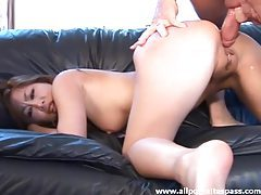 Mocha oriental minx getting her petite butt fucked raw tubes