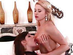 Glamorous women into sexy nipple sucking tubes