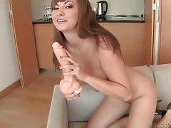 Glamorous big tits girl solo dildo sex tubes