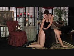 Chubby Mature Femdom Spanking In Stockings tubes