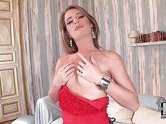 Shiny lips and small tits girl masturbates tubes