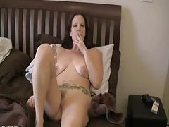 After a fuck she has a smoke tubes