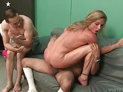 He sits in undies as his wife fucks another man tubes