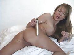 Asian with mind blowing body takes shower tubes
