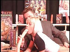Ass penetrated by dildo in video store tubes