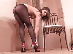 An erotic and beautiful pantyhose tease tubes