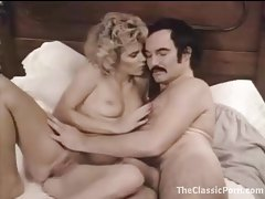 Man with a mustache bangs a hot blonde girl tubes