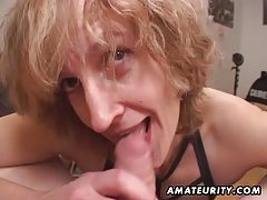Mature amateur wife gives head with cum in mouth tubes