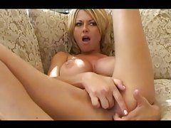 Horny girl with fake tits laid tubes