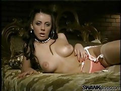 Penny Flame is stunningly erotic in stockings tubes