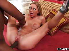 Sexy blonde Aline interracial sex tubes