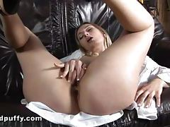 She pisses with speculum in her cunt tubes