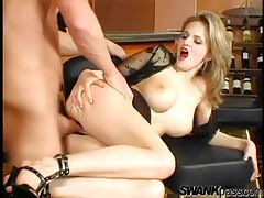Laid lady in black lingerie has hot tits tubes