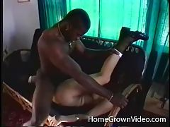 Black cock drills curly haired white chick tubes