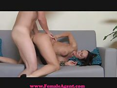 FemaleAgent MILF exploits shy gy in casting tubes