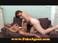 FakeAgent Lesbian action on the casting couch tubes