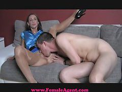 FemaleAgent Geek gets dream casting tubes