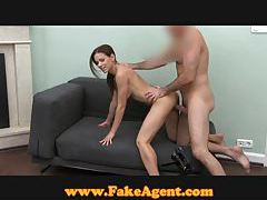 FakeAgent Flexible pussy gets pounded in casting tubes