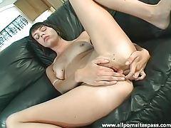 Cute little tits brunette masturbates pussy tubes