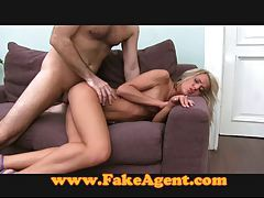 FakeAgent Blonde hair tight ass tubes