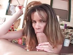 She sucks hugely thick dick in POV tubes