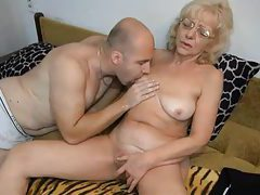 Blonde grandma does a 69 with him tubes