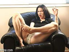 Foot tease from a tempting smoker tubes