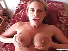 He parts her pussy with big cock in POV tubes