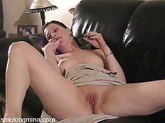 Smoking and dildo masturbation tubes