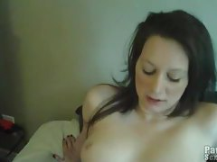 Shaved vagina welcomes his cock in POV tubes
