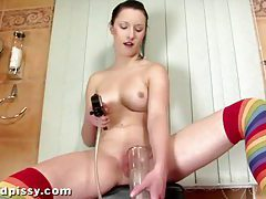 Pumping Her Piss tubes